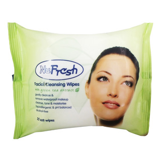 NuFresh Facial Cleansing Wipes - Green Tea Extract