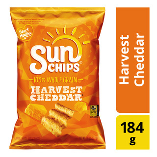 Sun Chips 100% Whole Grain Crackers - Harvest Cheddar