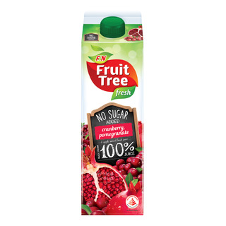 F&N Fruit Tree Fresh No Sugar Added Juice - Cranberry&Pomegranate