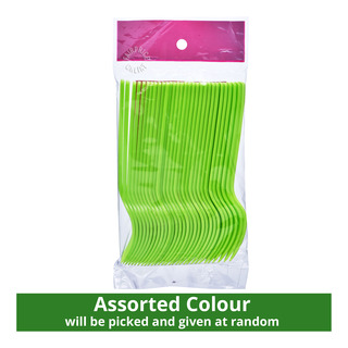 HomeProud Disposable Forks - Assorted Colour