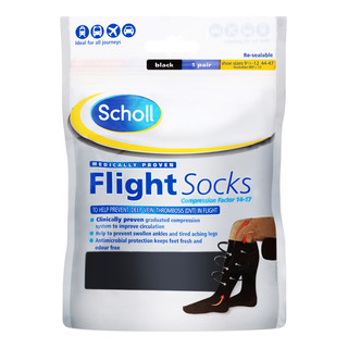 Scholl Flight Socks - Size 9.5 - 12