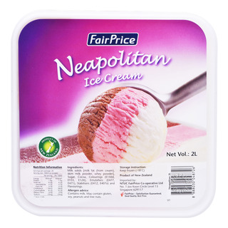 FairPrice Ice Cream Tub - Neapolitan