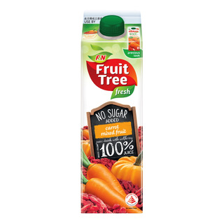 F&N Fruit Tree Fresh No Sugar Added Juice - Carrot Mixed Fruit