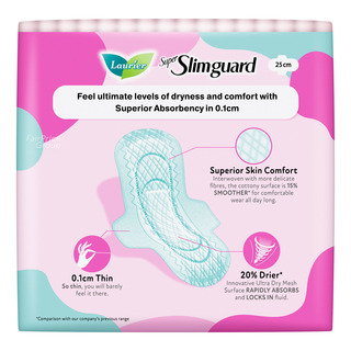 Laurier Super Slimguard Day Pads - Normal Heavy (25cm)