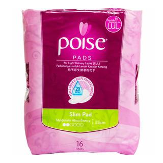 Poise Pads For Light Urinary Leaks - Slim (23cm)