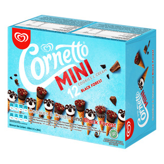 Cornetto Mini Ice Cream Cone - Cookies & Cream + Blackforest