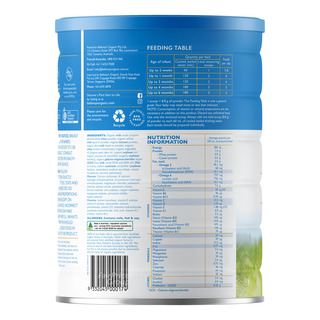 Bellamy's Organic Infant Milk Formula - Step 1