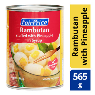 FairPrice Can Fruit in Syrup - Rambutan stuffed with Pineapple
