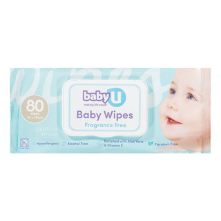 Baby U Baby Wet Wipes - Fragrance Free