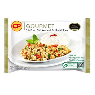 CP Gourmet Ready Meal - Stir Fried Chicken and Basil with Rice