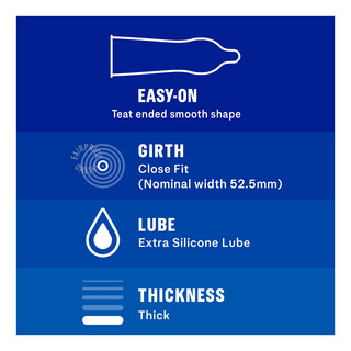 Durex Condom - Extra Safe (52.5mm)