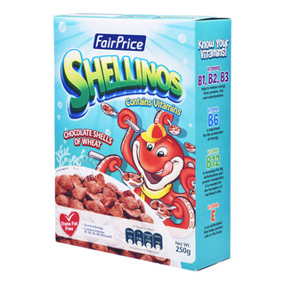 FairPrice Cereals - Shellinos (Chocolate Shells of Wheat)
