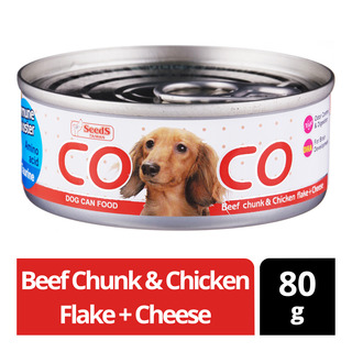 Coco Dog Can Food - Beef Chunk & Chicken Flake + Cheese