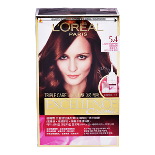 L'Oreal Excellence Creme Hair Dye - 5.4 Light Copper Brown