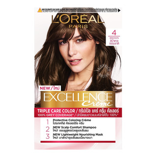 L'Oreal Paris Excellence Creme Hair Dye - 4 Brown