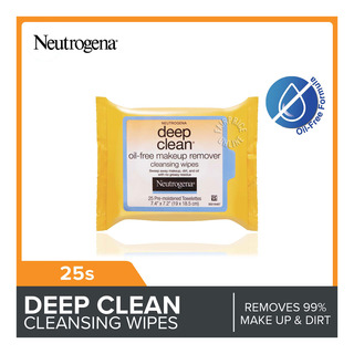 Neutrogena Deep Clean Oil Free Makeup Remover Wipes