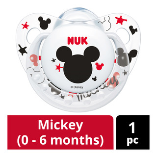 NUK Silicone Soother - Mickey (0 - 6 months)