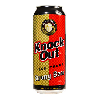 Knock Out Strong Can Beer