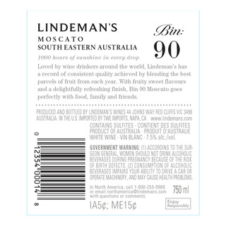 Lindeman's Bin Series Sweet Wine - Moscato (Bin 90)