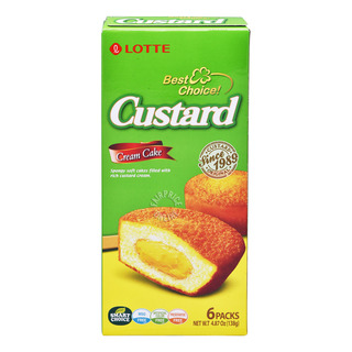 Lotte Happy Promise Cream Cake - Custard