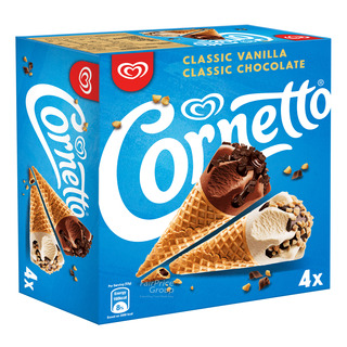 Cornetto Ice Cream Cone - Classic (Vanilla & Chocolate)