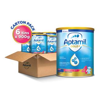 Aptamil Gold+ Junior Growing Up Milk Formula - Stage 4 6 x