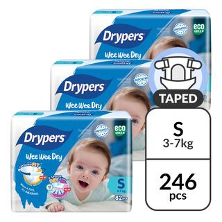 Drypers Wee Wee Dry Diapers - S (3 - 7kg)