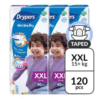 Drypers Wee Wee Dry Diapers - XXL (15+ kg)