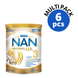 Nestle Nan Optipro HA Growing Up Milk Formula - Stage 3 6 x 800g