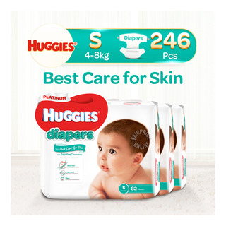 Huggies Platinum Diapers - S (4 - 8kg)