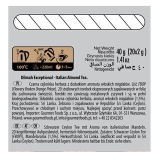 Dilmah Exceptional Tea Bags - Italian Almond
