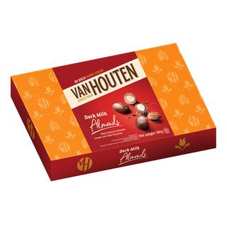 Van Houten Milk Chocolate Gift Tin - Almonds