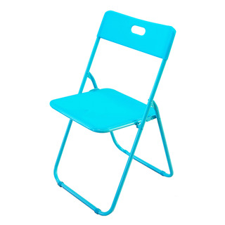 HomeProud Foldable Plastic Chair - Blue 1 per pack