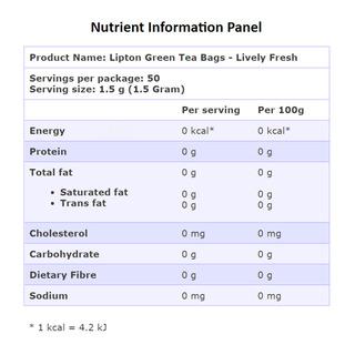 Lipton Green Tea Bags - Lively Fresh