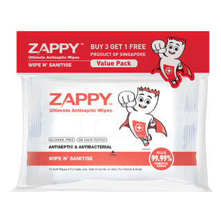 Zappy Ultimate Antiseptic Wet Wipes