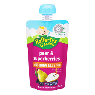Raffertyu0027s Garden Baby Food   Pear U0026 Superberries ...