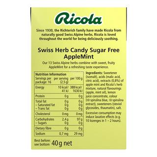 Ricola Natural Relief Swiss Herb Lozenges - Apple Mint (No Sugar)