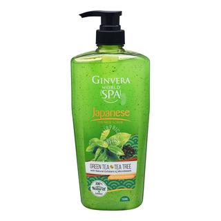 Ginvera World Spa Shower Scrub - Japanese (Green Tea & TeaTre