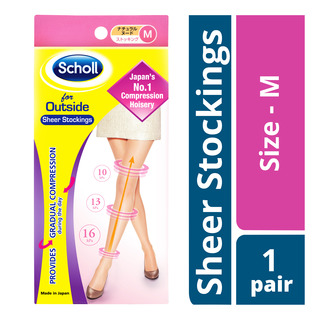 Scholl Outside Sheer Stockings - M