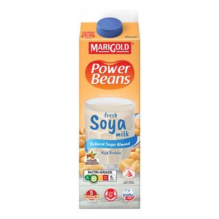 Marigold Power Beans Fresh Soya Milk - Reduced Sugar Almond