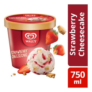 d40d82d8e55e Wall's Selection Ice Cream Tub - Strawberry Cheesecake 750ml ...