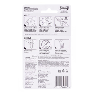 3M Command Clear Decorating Clips 20 per pack| FairPrice Singapore