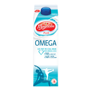 F&N Magnolia Plus Lo-Fat Hi-Cal Milk - Omega