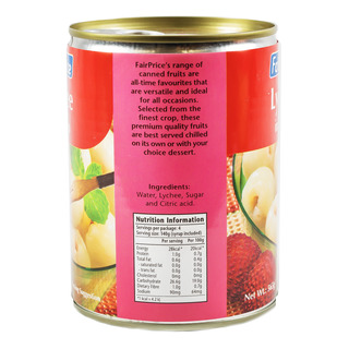 FairPrice Can Fruit in Syrup - Lychee