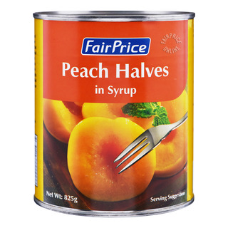 FairPrice Can Fruit in Syrup - Peach Halves