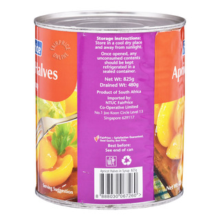 FairPrice Can Fruit in Syrup - Apricot Halves