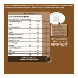 Nescafe Dolce Gusto Beverage Capsules - Cafe Au Lait