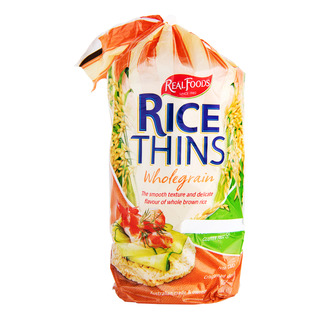 Real Foods Rice Thin - Wholegrain
