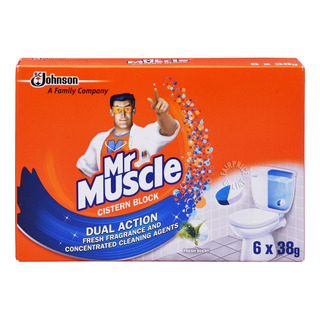 Mr Muscle 4 in 1 Active Clean In-Cistern Block - Fresh Scent