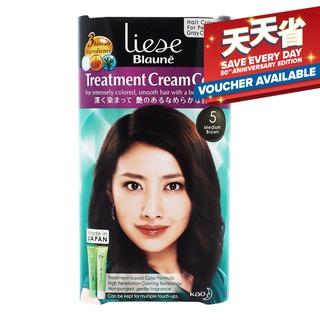 Liese Blaune Treatment Cream Colour - 5 Medium Brown